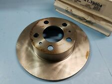 Front Disc Brake Rotor-Set GAS, Volvo 242 - 244 - 245 -1975-1984 - Solid Rotor