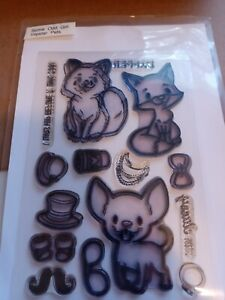 Some Odd Girl Hipster Pets Clear Stamp Cardmaking