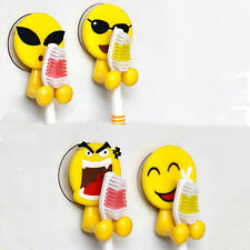 Hot! Bathroom Wall Mounted Mini Sucker Emoticons Toothbrush Holder Storage Rack