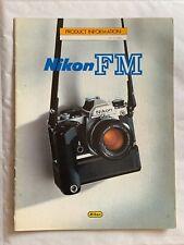 Nikon FM 35mm Film Camera, 14 pagine BROCHURE del prodotto, 1980