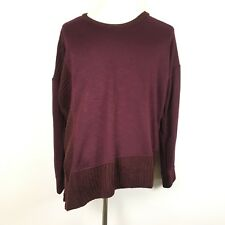 f006fa2349369 Maurices Womens Tunic Sweatshirt Sweater Trim Asymmetric Dark Red Size XXL  2xl