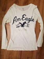 Women's White American Eagle Shirt L/S Size XL 💗