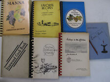 Lot 7 Religious Cooking Baking Recipes Cookbooks Cook Book Christian Unitarian
