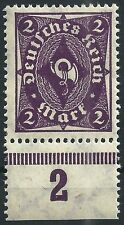 Posthorn MiNr. 224b vom Plattenunterrand geprüft OECHSNER BPP postfrisch