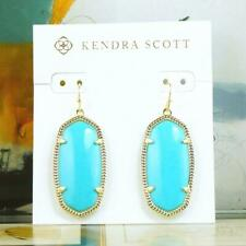 NWT Kendra Scott Elle Turquoise Earrings Gold Tone