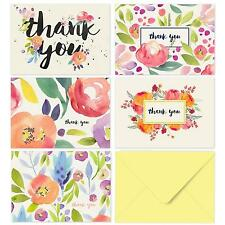Greeting Cards Thank You 40 Floral Notes for Your Wedding Baby Shower Bridal