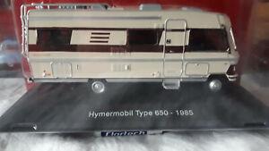 miniature camping car hymermobil type 650-1985 1/43