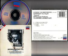 W.GERMANY FULL SILVER- Beethoven Symphony No.6 Pastoral ASHKENAZY PO CD