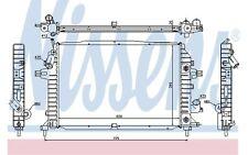 NISSENS Radiador, refrigeración del motor OPEL ASTRA ZAFIRA VAUXHALL 63115A