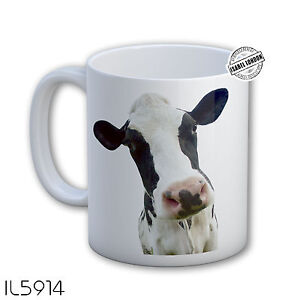 Personalised Cow Mug Cattle Mug cup. Customise with your own text. FOC. IL5914