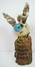 """TII Collections - """"Welcome to Our Garden"""" Resin bird on Log Figurine (Outdoor)"""