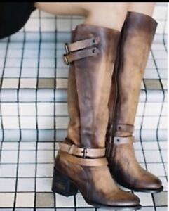 NEW Freebird By Steven Clive Leather Boots Cognac Size 11 NIB