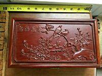 Chinese Huanghuali wood Hand carved Storage Box Jewelry Box