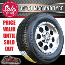 "BOAT JETSKI TRAILER 14"" GT MAG WHEEL SUITS FORD & 175/65X14 TYRE CARAVAN"