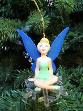 GROLIER DISNEY'S TINKER BELL SITTING ON A SNOWFLAKE HOLIDAY CHRISTMAS ORNAMENT