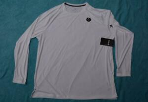 HURLEY Relaxed LS RASH VEST White-Black Trim Size XXL Quick Dry NEW-rrp $59.99