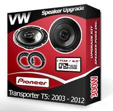 VW Transporter T5 Front Door Speakers Pioneer car speakers + adapter pods 300W
