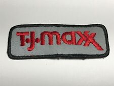 TJ Maxx Store Logo Patch Gray Red Rectangular Business A