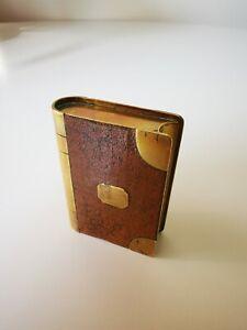 Antique Brass WW1 Trench Art Fake Book Cigarette Petrol Lighter