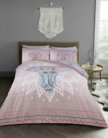 REVERSIBLE DUVET COVERS Poly-Cotton Quilt Cover with Pillow Case Bedding Set