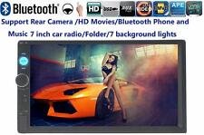 Touch Screen Bluetooth 7'' Car Radio Stereo USB/TF/AUX/AV IN/Folder/Remote 2 DIN