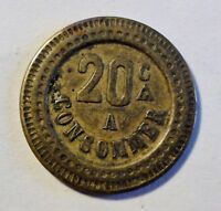 Token / Medaille - 20 A Consommer -