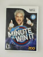 Minute To Win It - Nintendo Wii Game - Complete & Tested