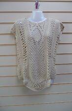 Kaleidoscope Crochet Top Beige Size 10/12 Casual  Bnwt  G024