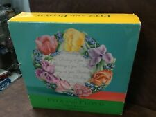 Fitz & Floyd Floral Wreath Spring Bouquet Canape Plate Tulip Iris Forget Me Not