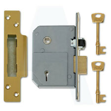 Union C-Series 3K74 5 Lever Mortice Sashlock 67mm Polished Brass Keyed To Differ