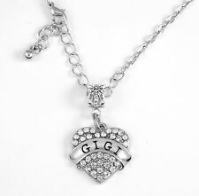 Gigi diamond cut chain Gigi Necklace Gigi best Gift best Gigi pendent necklace