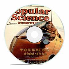 Vintage Popular Science Magazine Volume 2 DVD 1906-1924 206 Issues V02