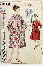 Vintage Ladies Raglan Sleeve A-Line Robe Pattern, Size 14