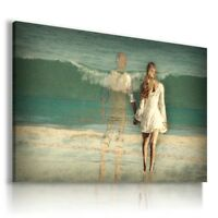 PAINTING DRAWING GHOST GIRL OCEAN BEACH  PRINT Canvas Wall Art R155 MATAGA .