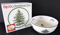 """Spode England Christmas Tree Salad Bowl 9 1/4"""" Serving Dish With Box"""