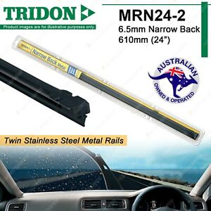 """Pair Tridon Twin Metal Rail Wiper Blade Refill MRN24-2 6.5mm Narrow Back 24"""""""