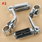 """Adjustable Highway Foot Pegs Peg 1 1/4"""" 32mm Long Angled Mount Kit For Harley"""