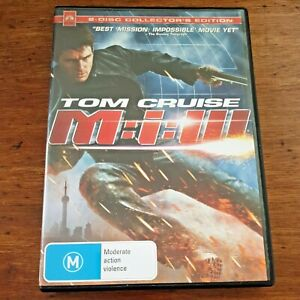 Mission Impossible DVD M:I:III  R4 Like New FREE POST 2 Disc Collectors Edition