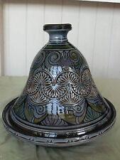 Moroccan handmade pottery tajine.