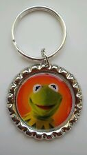 MUPPETS MOST WANTED * KERMIT THE FROG *  Bottle Cap with Keyring