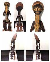 Antike Holzfigur sitzende Figur mit langem Bart Afrika Höhe 60 cm wood figure