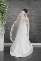 Wedding Veil on Comb Lace Edge Knee Length VD-122