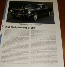 ★★1966 FORD SHELBY MUSTANG GT 350H SPECS INFO PHOTO 66 350 FASTBACK HURST★★