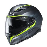 HJC F70 Feron Adult DOT Motorcycle Helmet Gray/Hi-Viz All Sizes