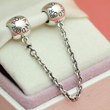 * Authentic Pandora Sterling Silver Signature Safety Chain 791877-05
