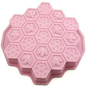 BEE honeycomb baking soap plaster silicone mold