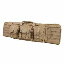 "NcSTAR Bag 42"" Tactical Double Carbine .223 5.56 Padded MOLLE Rifle Gun Case Tan"