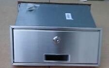 Mauerdurchwurf Briefkasten Postkasten EinbauBriefkasten Silber