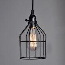 Antique Retro Vintage Metal Cage Edison Pendant Light Chandelier Ceiling Lamp