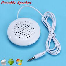 New Portable 3.5mm Pillow High Fidelity Speaker For MP3 MP4 CD iPod Phone White
